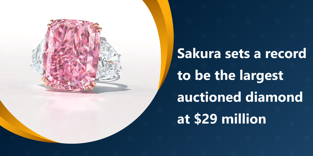 Sakura sets a record to be the largest auctioned diamond at $29 million